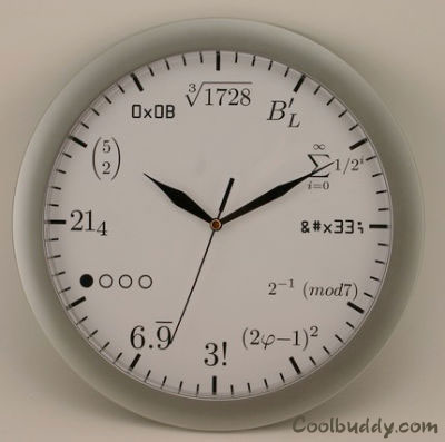 pictures for math. Clock For Math Geek