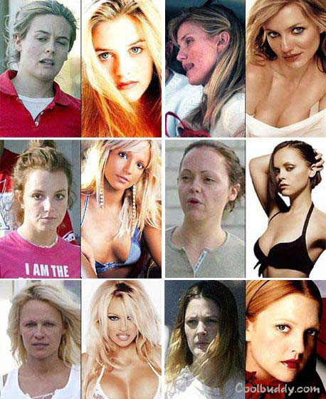 stars without makeup on